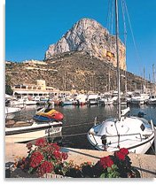 The fishing harbour of Calpe